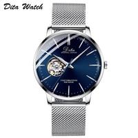 Mens Watches Skeleton Tourbillon Automatic Mechanical Watch Men Stainless Steel relojes de mujer Man Wristwatch New 2019 DITA