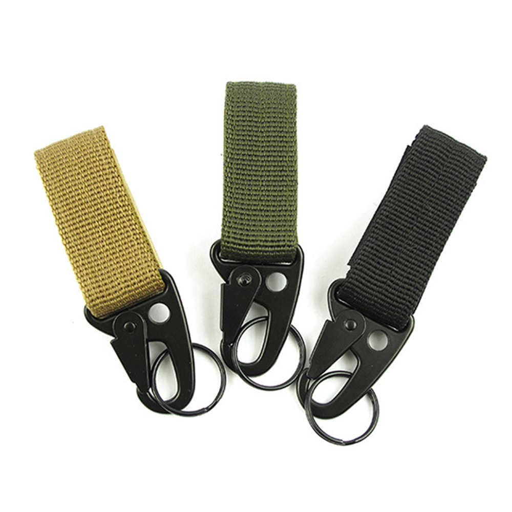 Tactical Accessory Buckle Nylon Hook Keychain Webbing Molle Buckle Outdoor Hanging Belt Clip Buckle Travel Kit High Stength