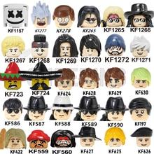 Kids Toys Guns Action-Figures-Head Building-Blocks Educational Famous-People N-Rose DJ