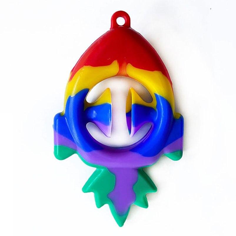 Anti-Stress poignée de doigt soulagement du Stress jouets Fidget jouets adulte enfant Simple fossette jouets Anti-Stress décompression Dropshipping 4
