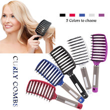 Scalp Massage Comb Fishbone Curly Straight Soft Round Hairy Teeth Brush Detangle Hair Brush for Salon Hairdressing Styling Tools