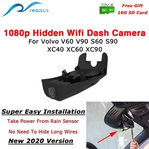 Realsun 1080P Auto Dvr Wifi Dash Camera Video Recorder 12M Piexel Eenvoudige Installatie Voor Volvo V40 V60 V90 s60 S90 XC40 XC60 XC90(China)