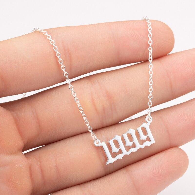 2020 цельнокроеное платье уникальный память год Номер медное ожерелье для женщин и девочек 1990 1991 1992 1993 1994 2019 воротник