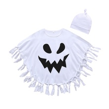 Spring Autumn Casual Fashion Baby Boy Printing Long Sleeve Cloak And Hat Kids Two-piece Outfit Set #p