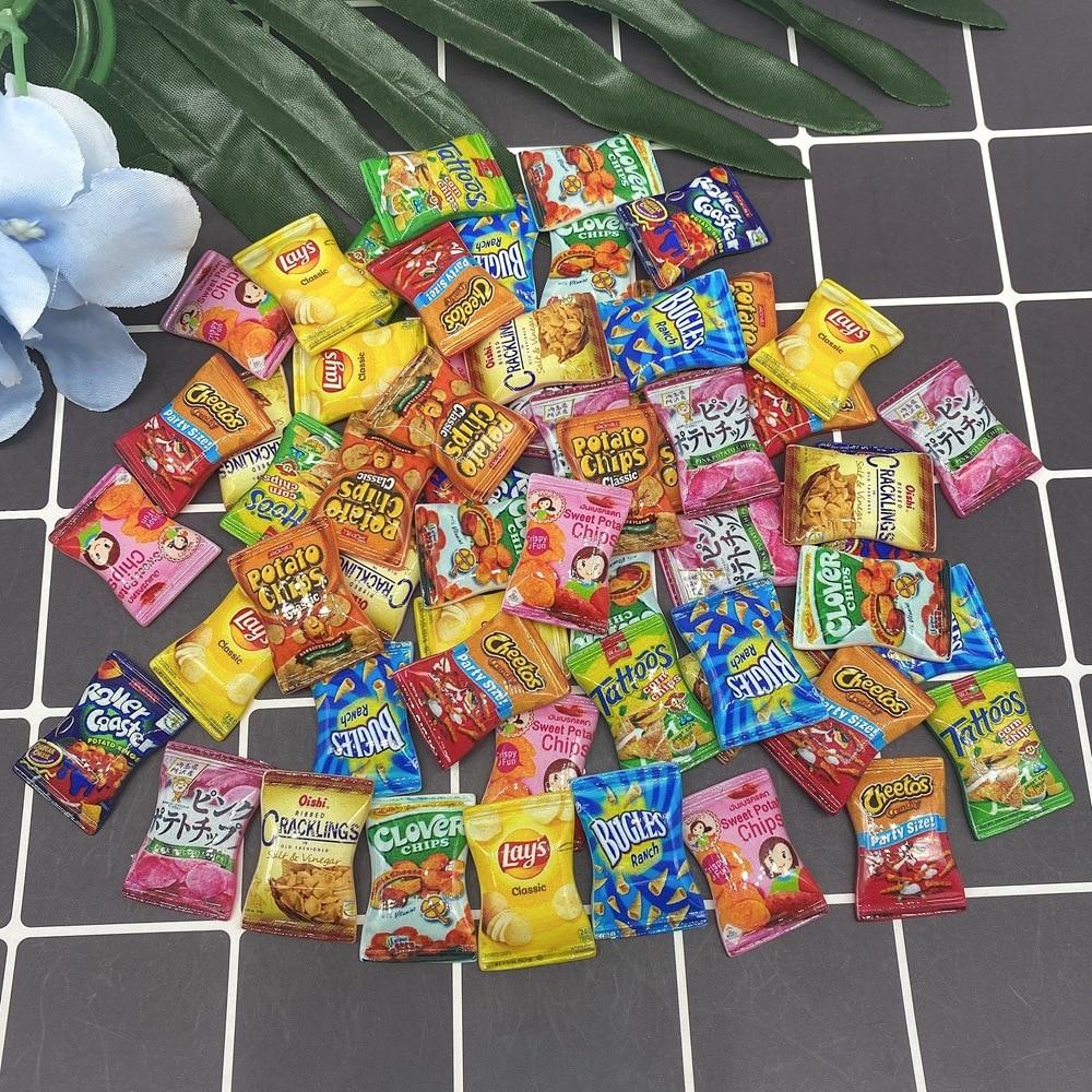 20 шт. миниатюрные Мультяшные конфеты с плоским задником кабошон имитация искусственной еды украшение для скрапбукинга телефонные аксессуа...