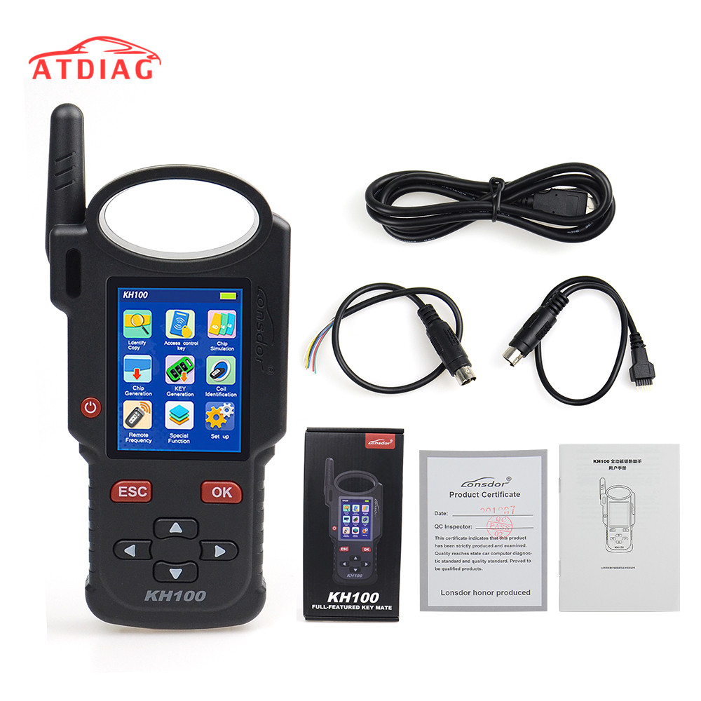 Original Lonsdor KH100 Remote Maker Key Programmer Generate Chip/Simulate Chip/Identify Copy/Remote Frequency with Free shipping-in Auto Key Programmers from Automobiles & Motorcycles