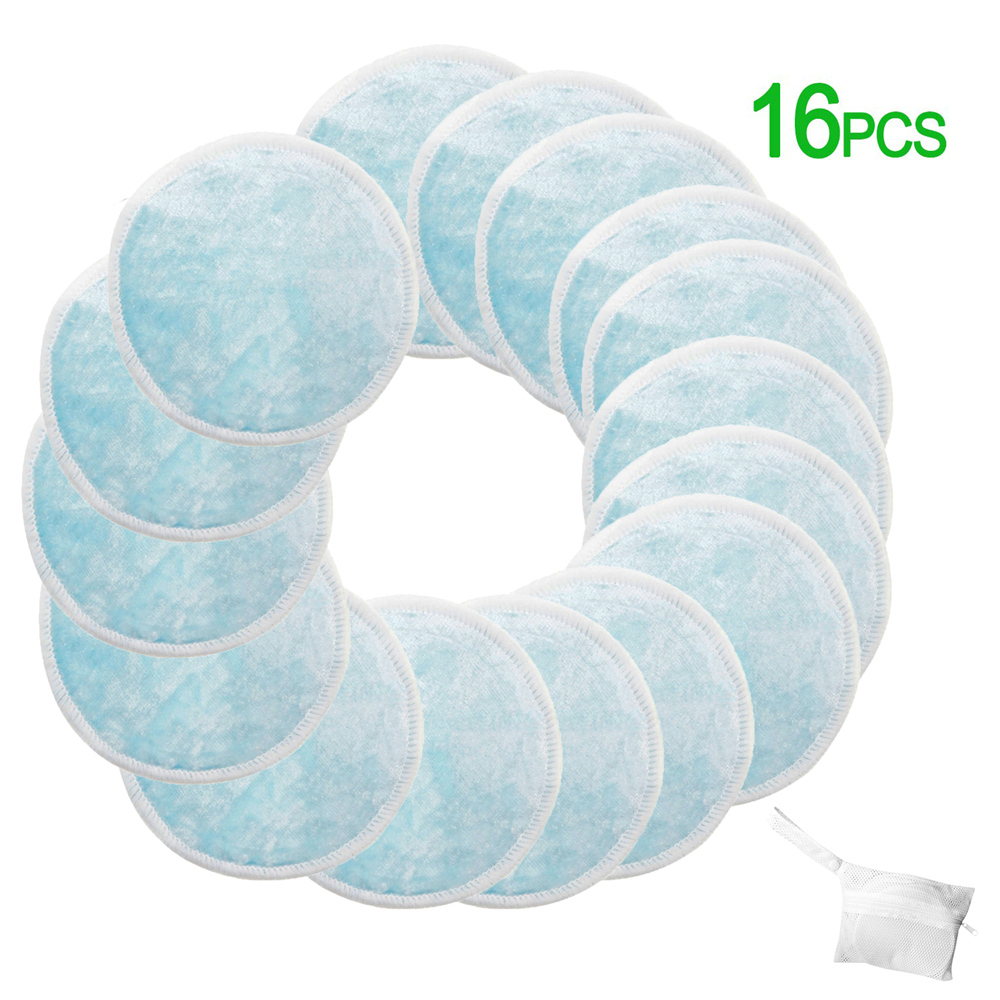 16pcs/set Reusable Makeup Remover Pads Deep Cleaning Face Wipes For Women Bamboo Cotton With Laundry Bag