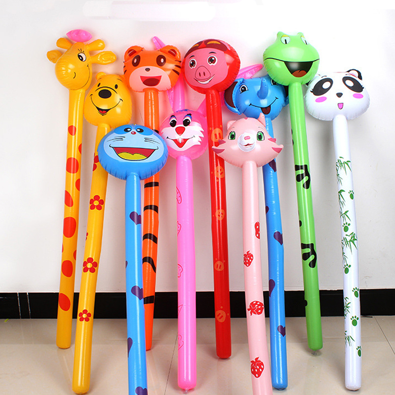 Long Cartoon Random Animal Balloon Inflatable Animal Inflatable Hammer No Wounding Weapon Stick Balloon Toys For Children Gift