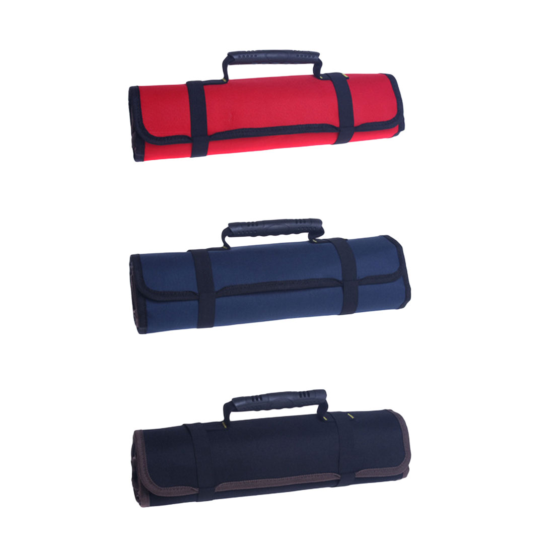 Multifunction Tool Bag Practical Carrying Handles Oxford Canvas Wrench Storage Roll Bag Tool Instrument Case 585mm X 355mm