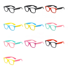 Kids Glasses Light Computer Eyeware Optical-Frame Square Anti-Blue Uv400 Children Boy