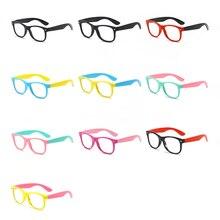 Детские очки с защитой от сисветильник, Детские квадратные оптические очки, очки для мальчиков и девочек, прозрачные компьютерные очки Uv400