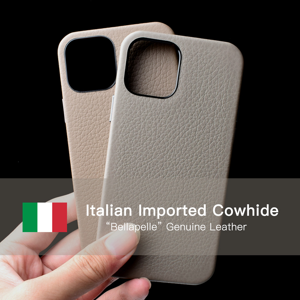 Italian Bellapelle Genuine Leather Case For Iphone 12 Pro Max High-End Luxury Fashion Cow Ohone Cases For Iphone 12 Max Cover