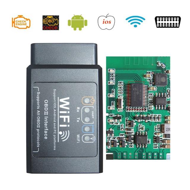 ELM327 WiFi/Bluetooth V 1,5 OBD2 Auto Diagnose Werkzeug PIC18F25K80 Chip IPhone/Android ULME 327 V 1,5 OBDII scanner Code Reader