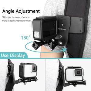 Image 4 - Vamson Pro עבור 9 8 אביזרי 360 תואר סיבוב קליפ עבור GoPro גיבור 9 8 7 6 5 4 3 + עבור יי 4K עבור SJCAM עבור SJ4000 VP512