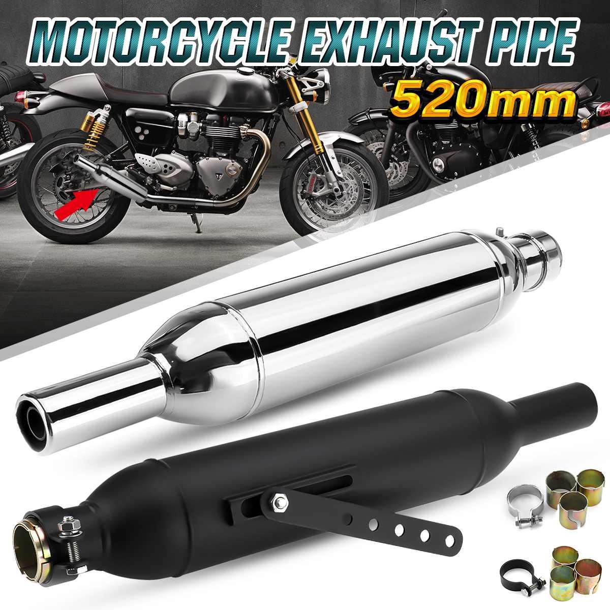 Universal Motor Exhaust Muffler Pipe For Harley Cafe Racer Bobber Street Bike