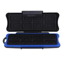 32 in 1 Waterproof Box Memory Card Holder Game Card Case Box for Nintendo 8 in 1 memory card storage case holder for ps vita translucent black
