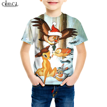 Cartoon Animal Eagle T Shirt Children's 3D Print Family Fitted Hippie Hipster Baby Boy T Shirts Sweatshirt Cute Baby Girl Tops