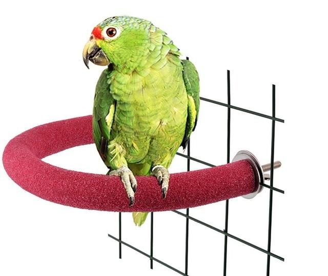 Parrot sanding stick bird toy claw grinding stick standing bar bending corner bird cage 90 degree U-shaped sanding stick, 86g 3