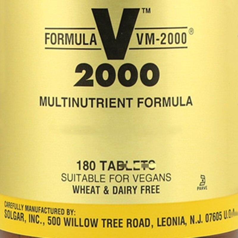 Formule VM-2000, formule complète, vitamine composée, 180 pièces