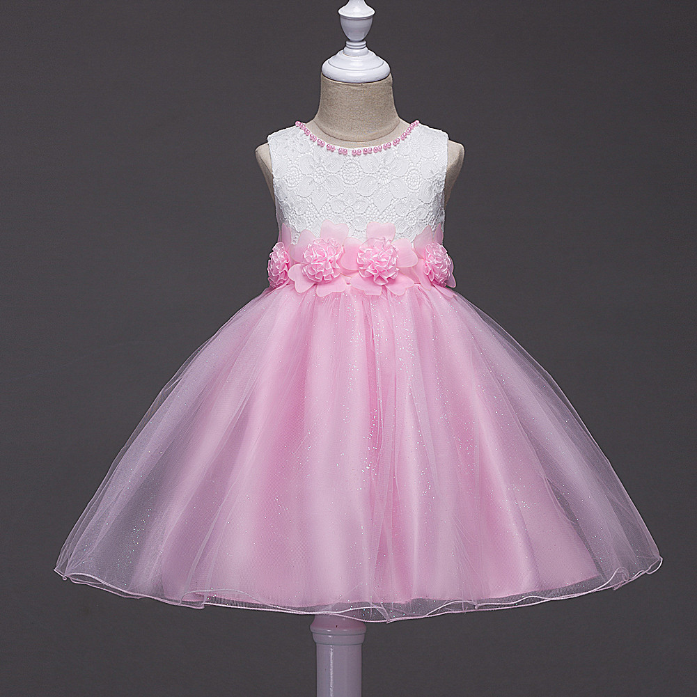 Korean-style Childrenswear Spring And Summer-Children Lace Princess Dress Gauze Formal Dress Girls Performance Dress