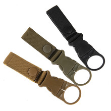 3 colors Outdoor Military Nylon Webbing Buckle Hook Water Bottle Holder Clip Climbing Carabiner Belt Backpack Hanger Hooks hot sale new outdoor tactical nylon webbing buckle hook water bottle holder clip edc zw 01
