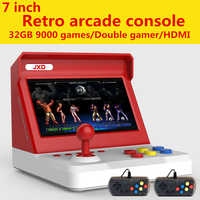 Jxd 7.0/4.3 polegadas duplo-núcleo grande rocker retro mini arcade console construir em 9000 jogo arcade neogeo/cp1/cp2/gbc/gb/sens/nes/smd