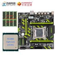 HUANAN ZHI X79-ZD3 carte mère M.2 NVME MATX avec Intel Xeon E5 2689 2.5GHz CPU 4*8GB (32 GB) DDR3 1600MHZ ECC/REG RAM