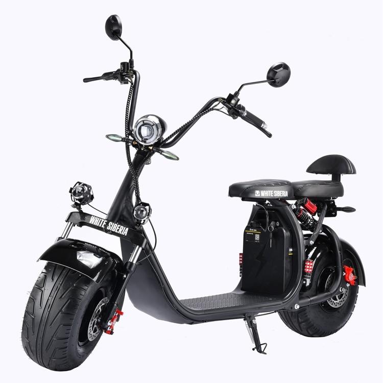 Российский склад, электрический мотоцикл 60 в 21 Ач, 2000 Вт, большой колесный электрический скутер, съемная литиевая батарея Citycoco