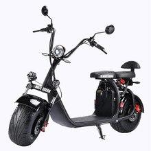 Citycoco – moto électrique 60V 21ah, 2000w, grande roue, Scooter électrique, batterie au Lithium amovible, entrepôt russe