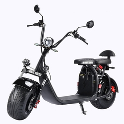 Russian Warehouse 60V 21Ah Electric Motorcycle 2000w Big Wheel Electric Scooter Removable Lithium Battery Citycoco