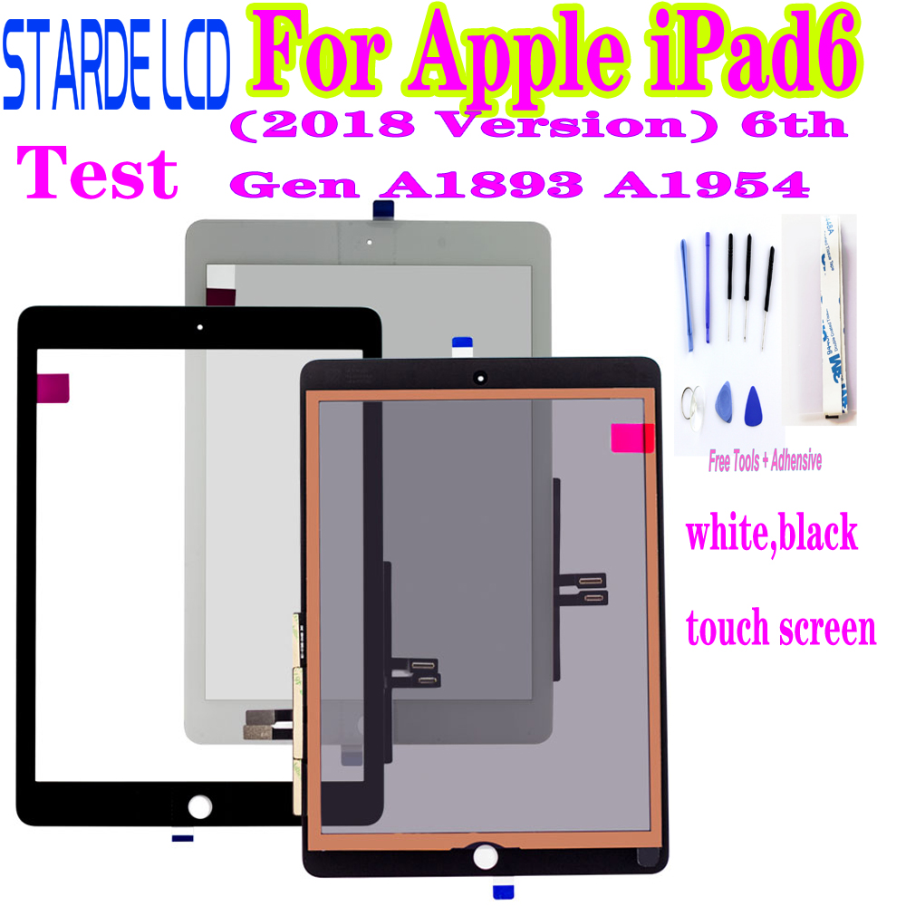 Original For Apple IPad6 9.7 (2018 Version) 6th Gen A1893 A1954 Touch Screen Digitizer For IPad 6 2018 Front Glass Touch Panel