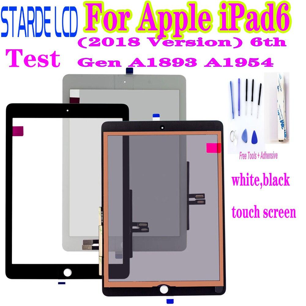 Оригинальный сенсорный экран для Apple iPad6 9,7 (2018 версия) 6-го поколения A1893 A1954, дигитайзер для iPad 6 2018, переднее стекло, сенсорная панель