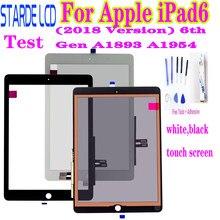 Original para apple ipad6 9.7 (versão 2018) 6th gen a1893 a1954 digitador da tela de toque para ipad 6 2018 painel toque vidro frontal