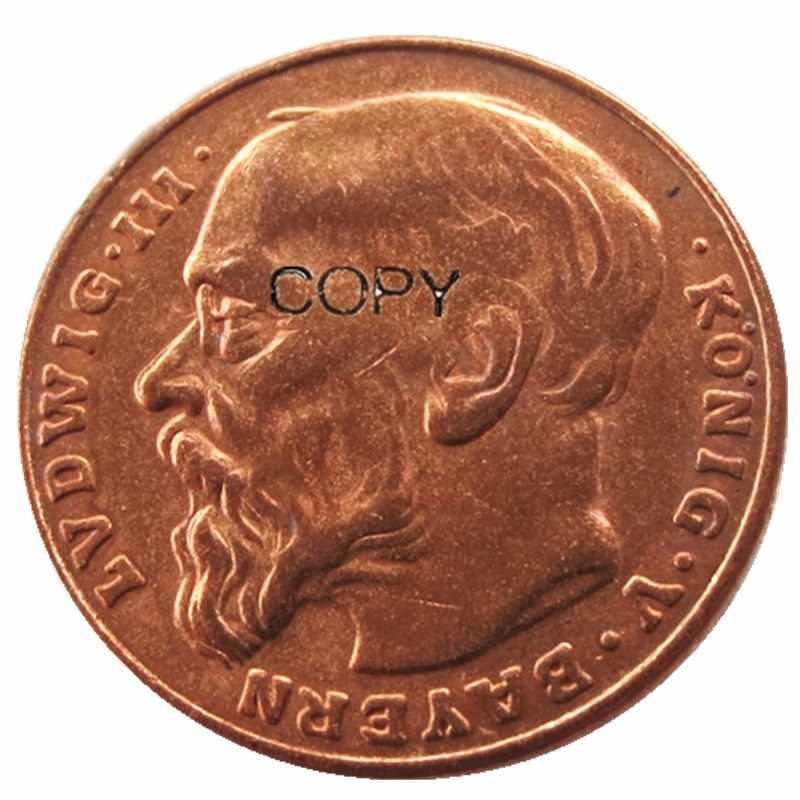 גרמנית ST בוואריה לודוויג III 1913 AE דפוס 10 סימן עותק מטבע