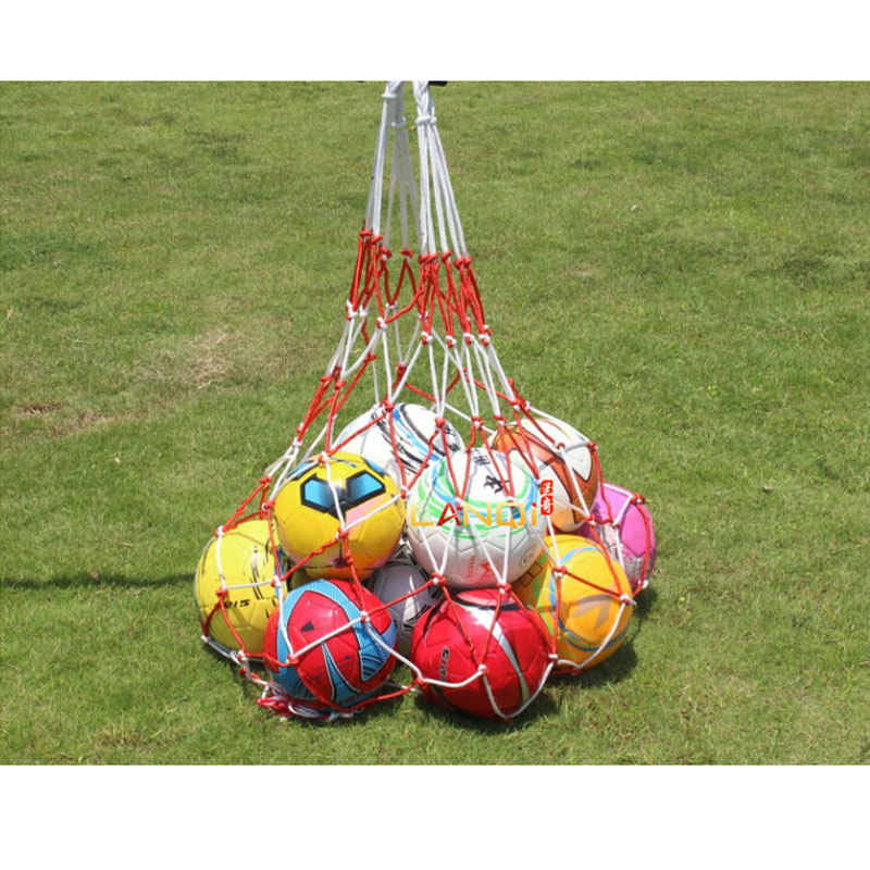 Portable Soccer Ball Goal Football Mesh Bag Net Super Big For Basketball Volleyball Handball Sports Training Carrying Bags