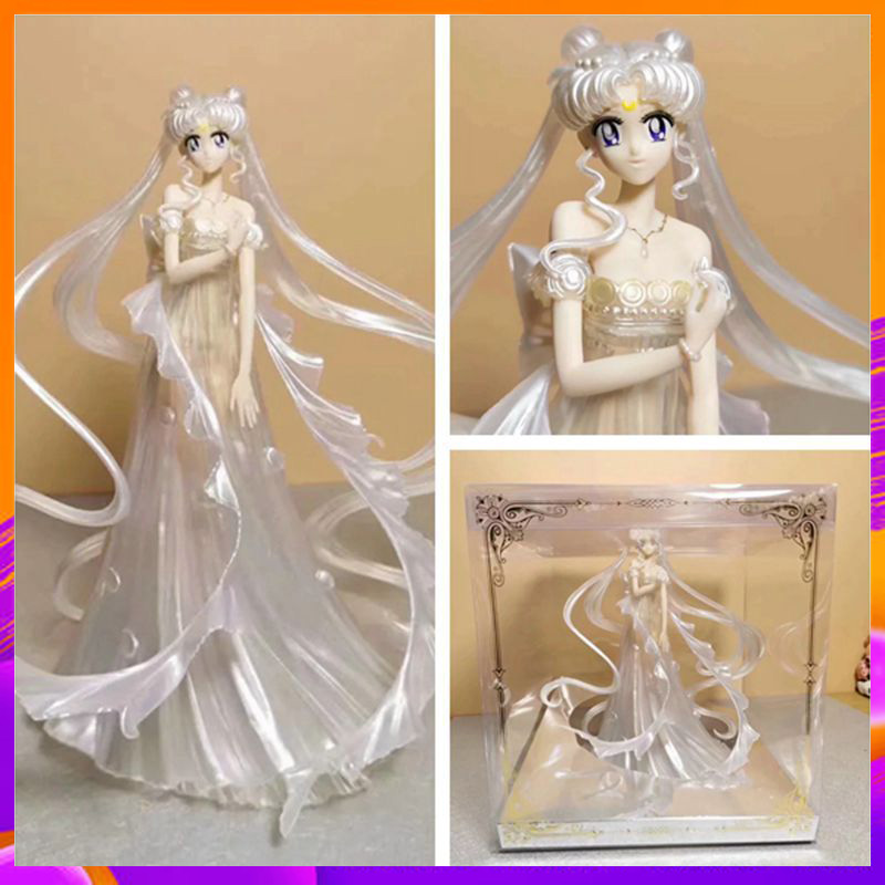 New Arrival Sailor Moon GK Wedding dress PVC Action Figure Model Dolls Gifts 25cm In Box