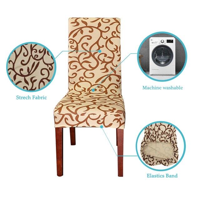 Floral Design Elastic Chair Slipcover 3