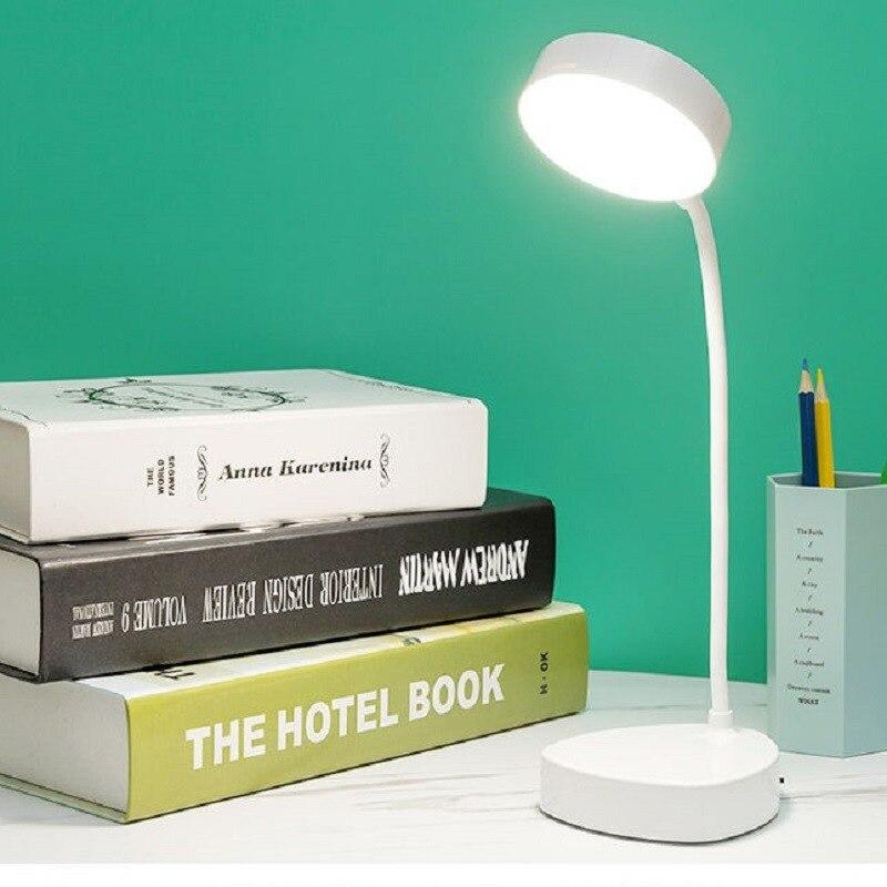 Lampe de lecture tactile à trois vitesses, chargeur USB, prise de courant, Protection des yeux, blanc chaud, lumière de Table pour étudiants