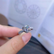 Jewelry Dazzling 925 Silver Moissanite Ring for Party 1ct Real VVS Moissanite Ring Sterling Silver Moissanite Jewelry 3 5 7mm marquise cut vvs moissanite super white moissanite diamond 0 32 for ring making