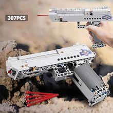Пистолет Desert Eagle MK23, 412 шт., пистолет, пистолет, строительные блоки, игрушки, пулемет, пулемет, модель машины Uzi, детские игрушки, подарки для де...
