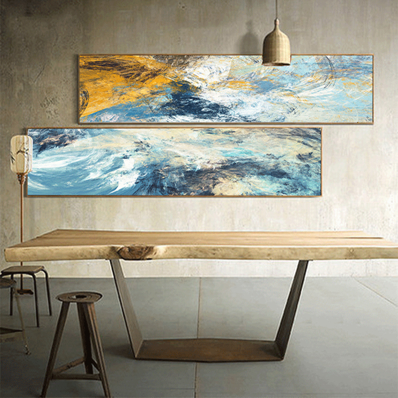 Large Abstract Cloud Art Oil Painting Poster Print Wall Art Canvas Painting Creative Line Pictures for Living Room Home Decor