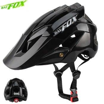 Batfox capacete da bicicleta das mulheres dos homens capacete integralmente moldado mtb capacetes casco batfox mtb casco velo ciclismo capacetes tamanho: m/l 1