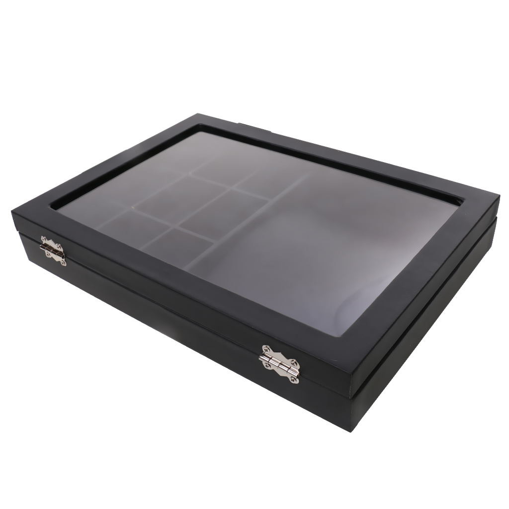 Large Black Leather Necklace Jewelry Retail Display Tray Box Organizer #2