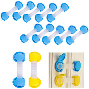 10Pcs/Lot Children Safety Lock Baby Security Protector Drawer Door Cabinet Locks Plastic Protection Kids Safety Door Lock