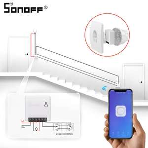 SONOFF Support External-Switch Remote-Control Wifi DIY Home-Automation-Alexa Google Mini/basic