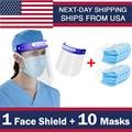 Sicherheits Full Kunststoff Gesicht Sheild Und Gesichtsmasken Gesichtsmaske Klar Protector Anti-Splash Arbeit Industrie Gesichts Abdeckung Schiff Von USA