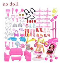 Mix Doll Plastic Furniture Mini Play Toy Shoes Bag Hanger For Doll Accessories For DIY Toys Play Hou