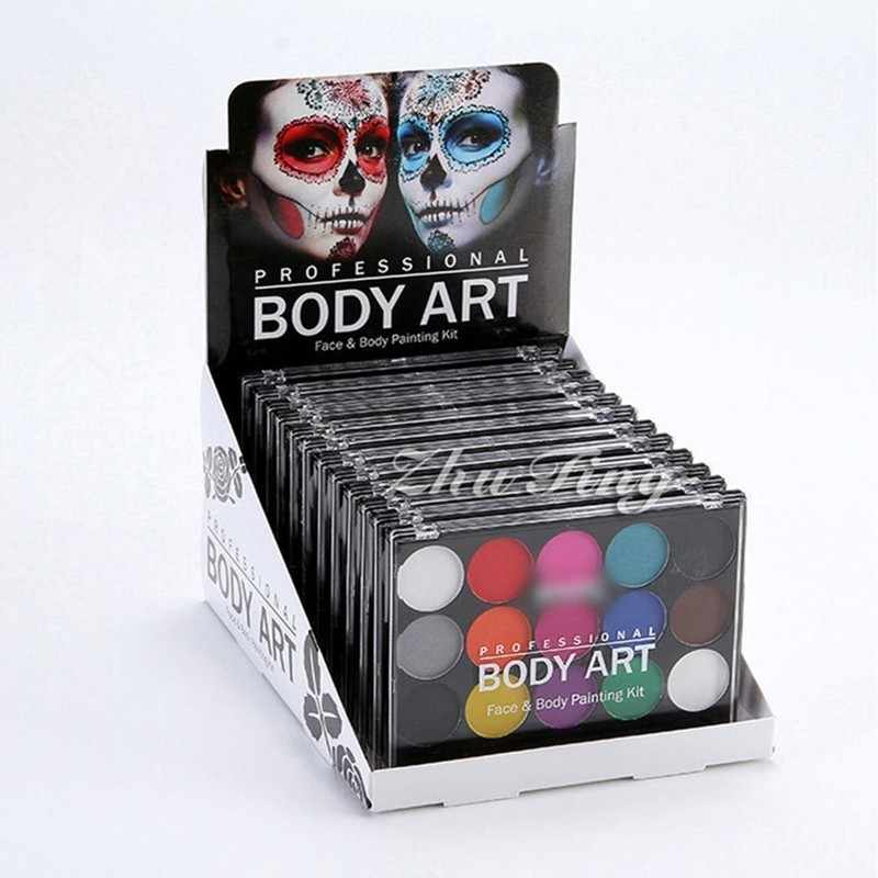 15 Kleuren/Set Gezicht Body Paint Make Aquarel Acryl Brush Art Schilderij Tekening Levert Pigment Graffiti Voor Kunstenaars 03173