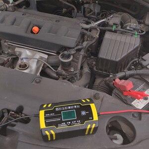 Image 5 - Cargador de batería automático para coche cargador de batería de ácido de plomo seco y húmedo, con pantalla LCD Digital, 12V 24V, 8A