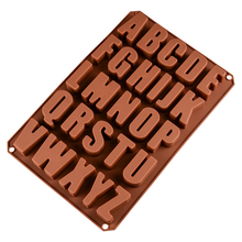 Alphabet Food Grade Silicone Chocolate mold Creative DIY Baking Cake tool Handmade Making Mousse Candy Molds ballet skirt cakes molds food grade silicone sugar chocolate cake cookies mold diy decorating baking tool